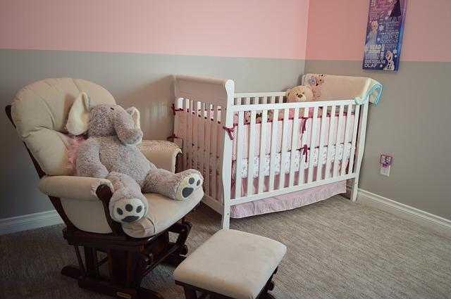 dětský pokoj v jemných barvách