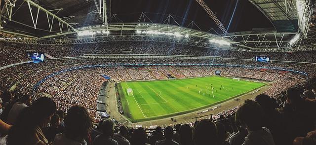 stadion při zápase