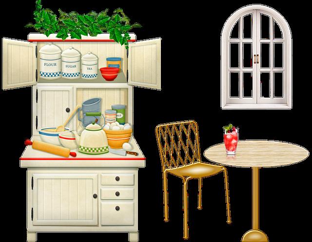 Domácnost, kuchyně, vybavení.