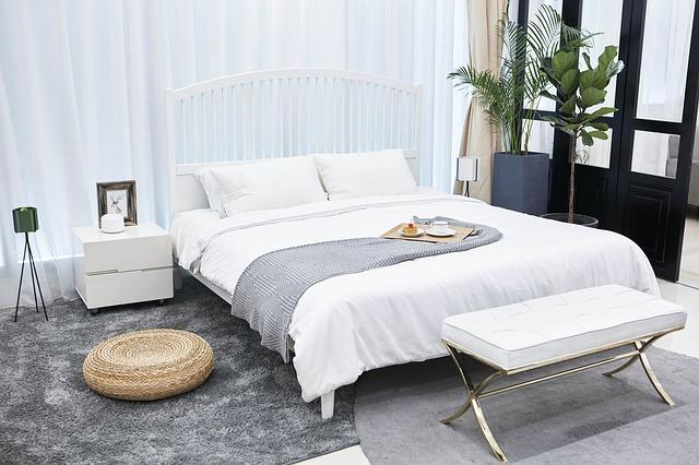 Domácnost, ložnice, design.