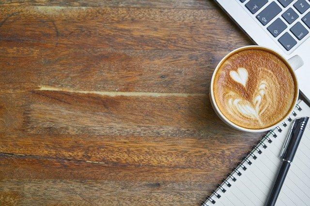 káva psaní článků